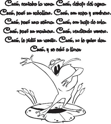 TenVinilo. Vinilo infantil cantaba la rana. Adhesivo de corte de la clásica canción de niños que habla de una rana que canta debajo del agua.