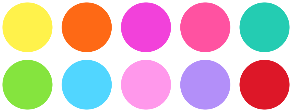 TenVinilo. Pack vinilos con puntos coloridos. Vinilo infantil de círculos de colores para niños. El diseño contiene diferentes colores de puntos. Elige medidas ¡Envío a domicilio!