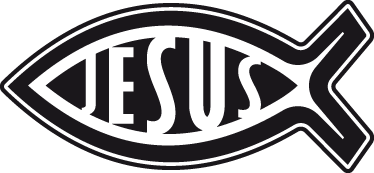 TenStickers. Jesus Fish Sticker. Sticker with the fish emblem identified with Jesus Christ. For those who are fervent devotees.