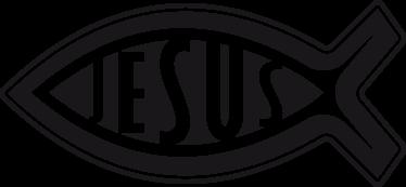 """TenStickers. Sticker vehicule Jésus. Stickers pour voiture et moto """"Jésus"""".Si vous avez la foi, ce stickers est la meilleure façon pour décorer votre voiture."""