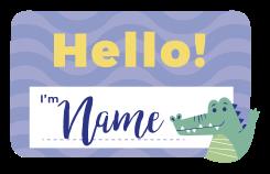 """TenVinilo. Vinilo para niños con nombre T-Rex saludando. Compra este vinilo dinosaurios infantil con T-Rex saludando y el texto """"hola soy..."""" que el que podrás personalizar el nombre ¡Decora a tu gusto!"""
