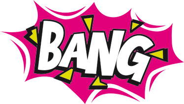TenStickers. Comic Bang Laptop Sticker. Laptop and tablet stickers - from our collection comic book stickers with the onomatopoeic - BANG! Make your laptop stand out from the rest.