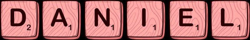 TenStickers. Autocollant Jeu de Société Mot personnalisé scrabble rose. Décorez le nom de votre enfant dans la chambre avec notre autocollant de nom de scrabble personnalisé. Un autocollant design imitant les lettres du scrabble.