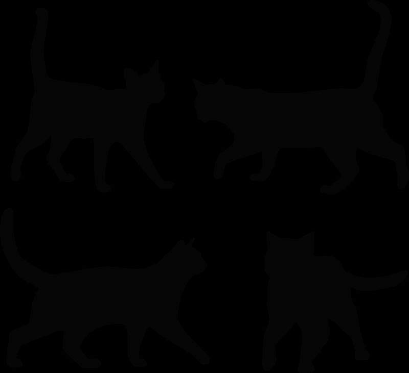 TENSTICKERS. 家具用デカールのすべての部分に猫のステッカー. 子供部屋の装飾に適した猫の動物のステッカーのセット。色とサイズのオプションでカスタマイズできます。オリジナル、粘着性、貼り付けやすい。