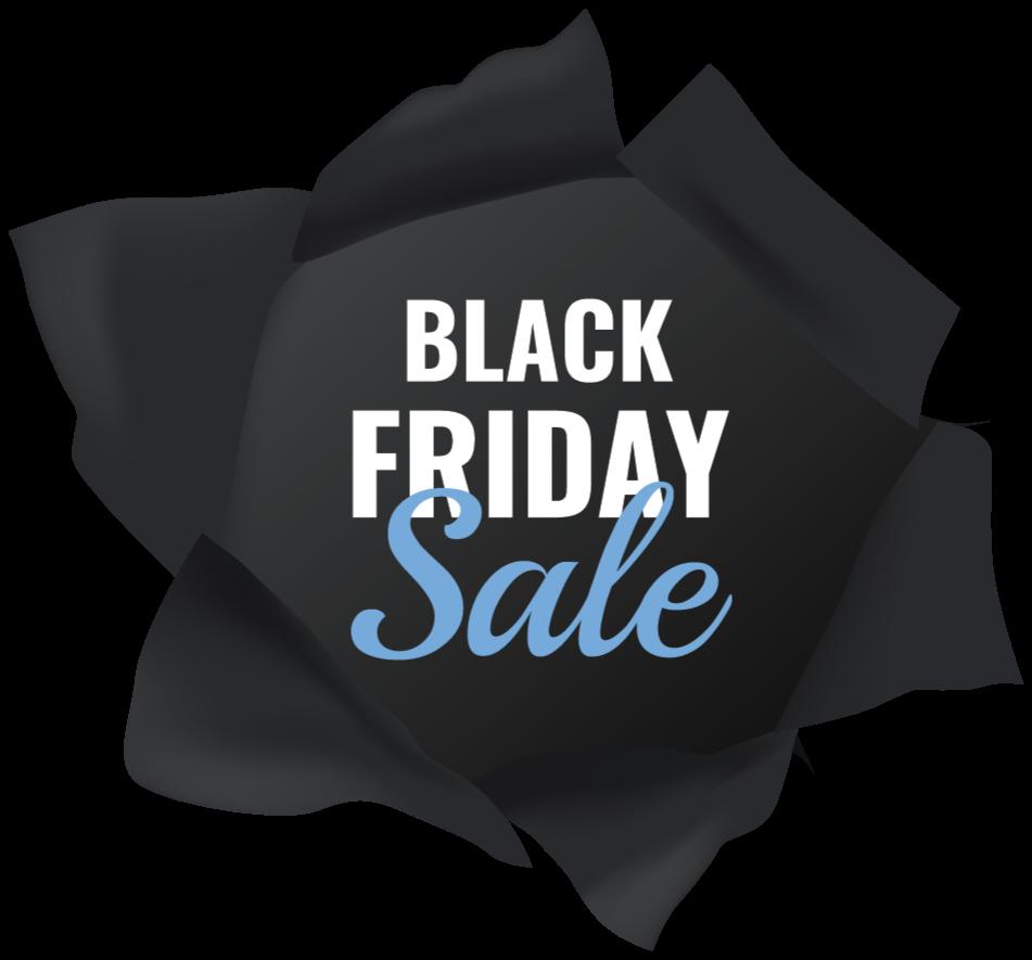 TENSTICKERS. ブラックフライデーセールリアルコンポジションウィンドウデカール. リアルな黒い生地の構成の背景のデザインとブラックフライデーの販売ステッカー。ブラックフライデーのセールが刻まれています