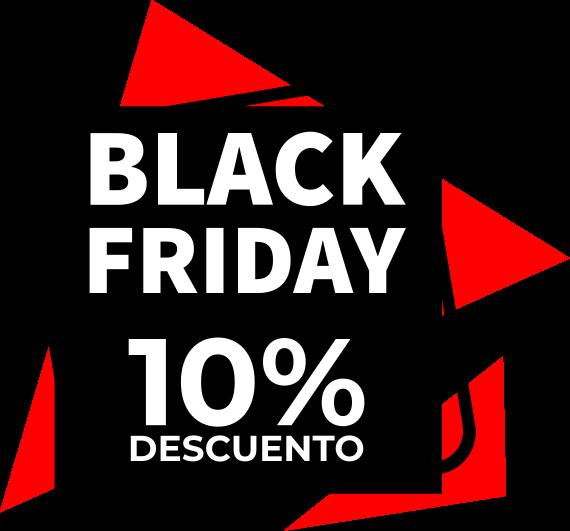 TenVinilo. Black Friday vinilo personalizable geométrico. Vinilo Black Friday hecho de fondo múltiple con cuadrados y triángulos en rojo y negro. Personaliza el descuento ¡Compra online!