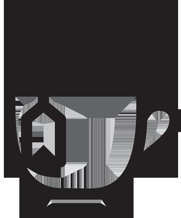 TenStickers. 茶图标饮料墙贴. 墙贴-一杯热茶的插图。贴花非常适合您的家庭或企业。适用于咖啡馆,酒吧和餐馆。