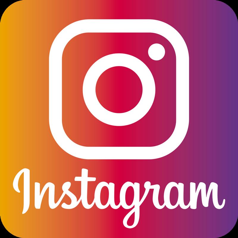 TenStickers. Adesivo per vetrina Logo instagram. Iconico adesivo con logo instagram per affari. Il design è adatto per essere posizionato su una finestra, porta d'ingresso e altre superfici di un luogo di lavoro.