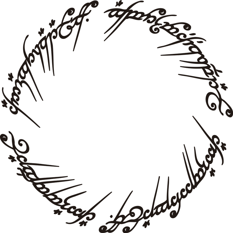 TenStickers. Wandtattoo Herr der Ringe Saga. Spektakulärer Aufkleber mit der Ringinschrift des bekannten Ringes der Tolkien Saga. Dieses Wandtattoo ist genau das Richtige für Herr der Ringe Fans!