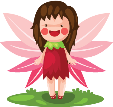 TenStickers. Fairy Pink Wings Kids Stickers. A kids sticker illustrating a very happy girl smiling with pink wings. A decal full of magic to decorate your child's room.