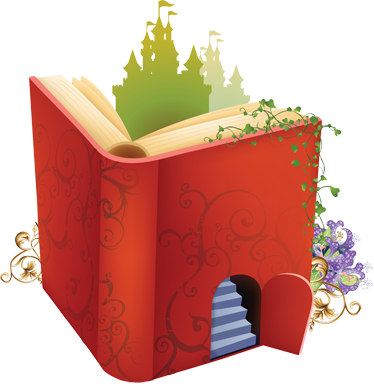 TenStickers. Magic Book Kids Sticker.  This fairy tale sticker is a great wall decoration for the any child's bedroom! A magical decal to create a fantastic atmosphere! This book sticker is perfect to create an environment where they can imagine castles, wizards and magical creatures!