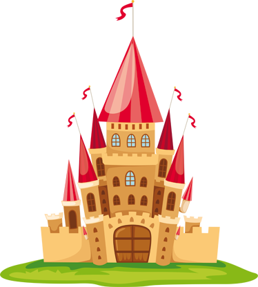 TenStickers. Kids Fairytale Castle Sticker.  Toddlers bedroom stickers - A kids castle decal to decorate their bedroom! This fairy tale sticker is perfect to create a magical atmosphere in their bedroom.