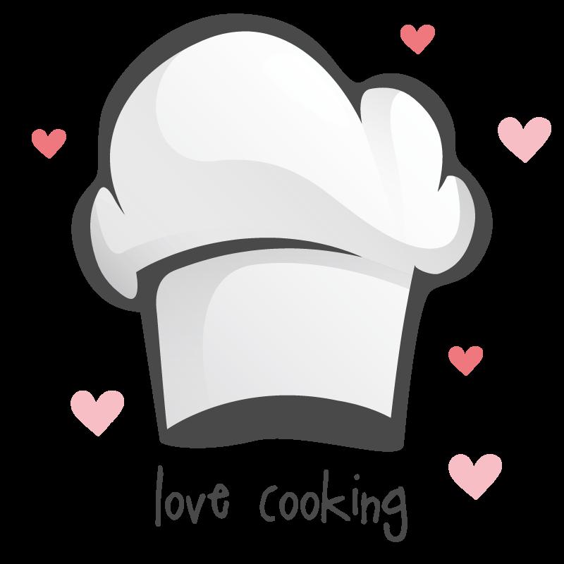 TenStickers. Adesivo autocolante para Cozinha Amo cozinhar boné. Um maravilhoso desenho de decoração para a sua cozinha se adora cozinhar e gostaria de decorar as suas paredes. Amo cozinhar com a autocolante do chapéu do chef!
