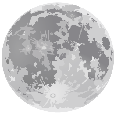 TenStickers. Full Moon Wall Sticker. The full moon wall decal is a magnificent illustration! The design from our collection of moon wall stickers and is perfect for adding style or decoration to your living room or bedroom.