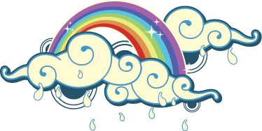 TenStickers. Rainbow Clouds Kids Decal. A rainbow design to decorate your child's room. A fantastic decal from our collection of rainbow wall stickers ideal for the little ones.