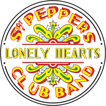 TenStickers. Sticker décoratif Sgt Peppers Lonely. Adhésif du logo du célèbre album Sergent Peppers et Lonely Hearts Club Band des Beatles, véritables icônes de la musique !