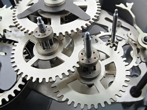 TenVinilo. Vinilo decorativo mecanismo reloj. Fotomural mecánico. Vinilo decorativo adequado para los aficionados a las máquinas y sus mecanismos.