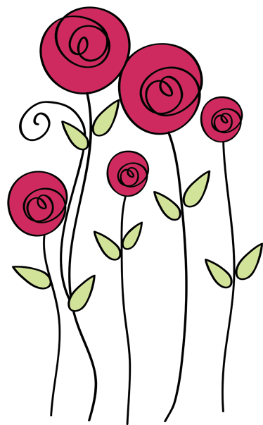 TenStickers. Roses Illustrations Wall Sticker. Flower Wall Stickers - Illustration of five colourful roses to give a fresh and original atmosphere to your home decor. Vibrant rose wall stickers to bring some colour and nature to any living room, bedroom and more!