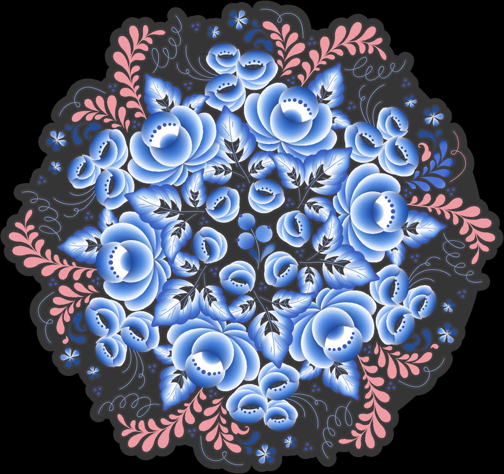 TENSTICKERS. 花フォークホームデカール. あなたの家のあらゆる部分を飾るための民俗花のかわいいステッカーデザイン。素敵な方法であなたのスペースを強化する素敵なデザイン。