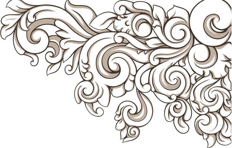 TenStickers. Growing Baroque Floral Corner Wall Sticker. Wall Stickers- Classic floral motif baroque design to add an elegant touch to your home. High quality decals at great prices.