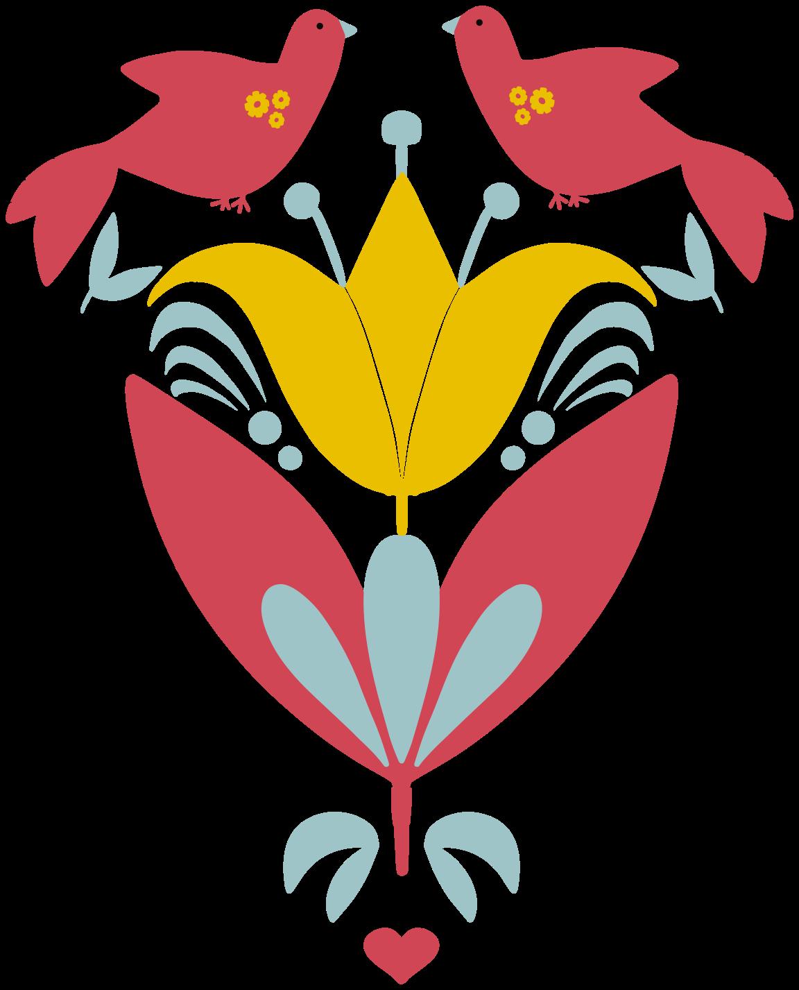 TENSTICKERS. スロバキアの民俗花の壁のステッカーの鳥. 装飾的な装飾用の鳥と花のステッカー。家のあらゆる部分を飾るための素敵なデザイン、それはオリジナルで、耐久性があり、自己接着性です。