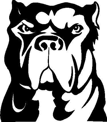 Pitbull Dog Wall Sticker Tenstickers