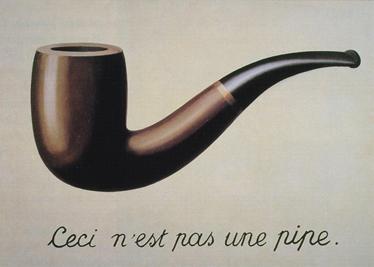 TenStickers. Adesivo murale pipa Magritte. Sticker decorativo raffigurante la famosa opera del pittore surrealista belga René Magritte.