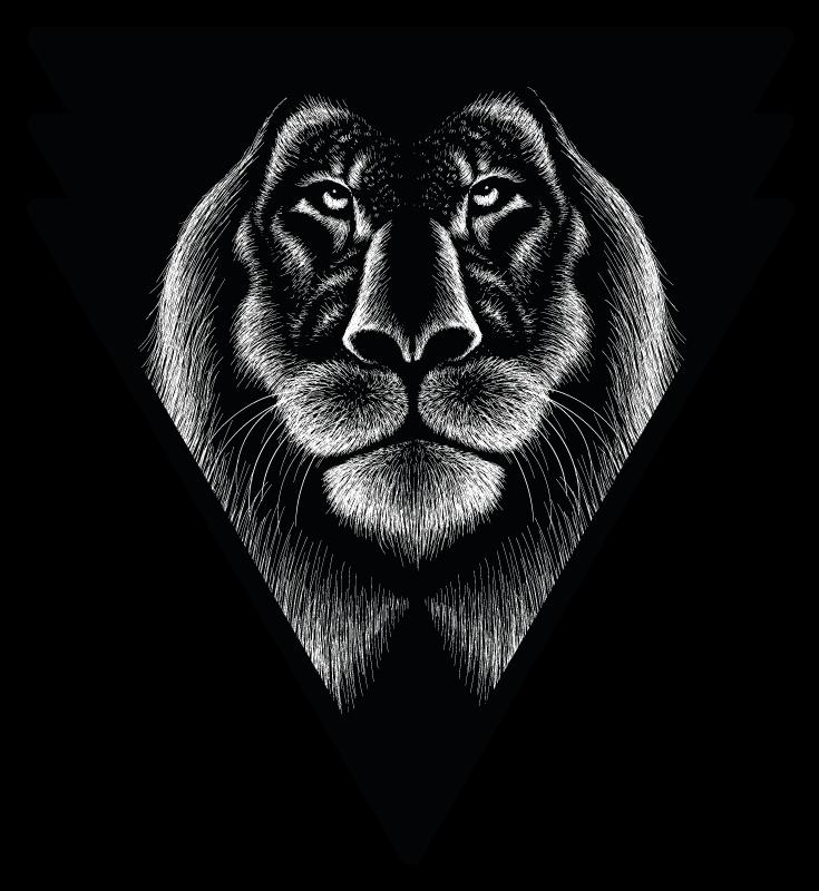 TENSTICKERS. たてがみの野生動物のステッカーと本物のライオン. ライオンのエンブレムが付いたウォールステッカー。寝室の装飾に最適です。塗布が簡単で、高品質の素材で作られています。 100%の満足。