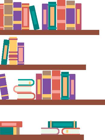 TenStickers. Bücherregal Aufkleber. Wenn Sie Ihrer Wand einen ausgefallenen Look verpassen möchten, dann ist dieses Regal als Wandtattoo ideal.