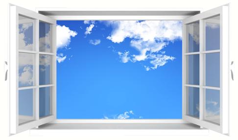 Offenes fenster  3D Wandtattoo Offenes Fenster - TenStickers