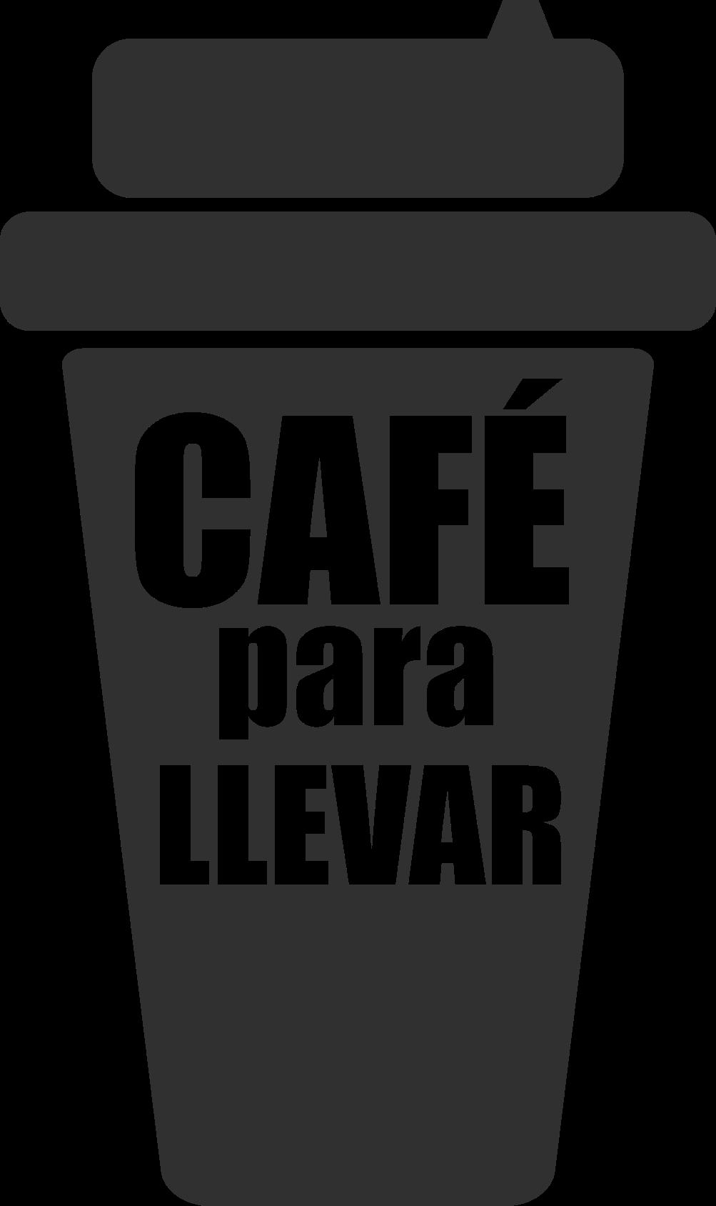 """TenVinilo. Vinilo cafetería vaso café para llevar. Vinilo cafetería con un vaso de café y la frase """"café para llevar"""" para indicar el servicio en tu negocio. Elige color y medidas ¡Envío exprés!"""