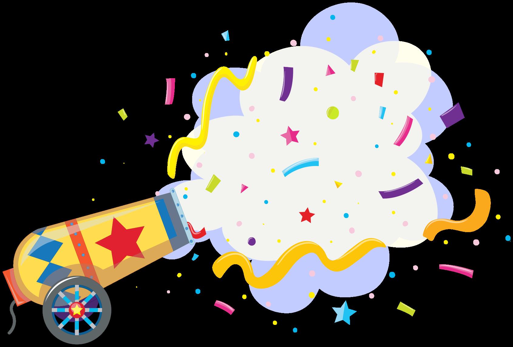 TenStickers. Sticker Mural Explosion de confettis. Autocollant d'explosion de confettis pour la décoration de la chambre des enfants. Une conception imitant une explosion de confettis, les enfants aimeraient et admireraient cette conception.