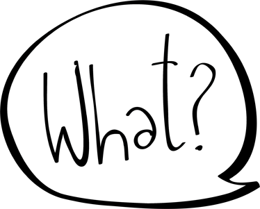 """TenVinilo. Vinilo decorativo cómic what. Adhesivo de un clásico bocadillo de tebeo dónde se nos pregunta """"¿Qué?"""" en inglés."""