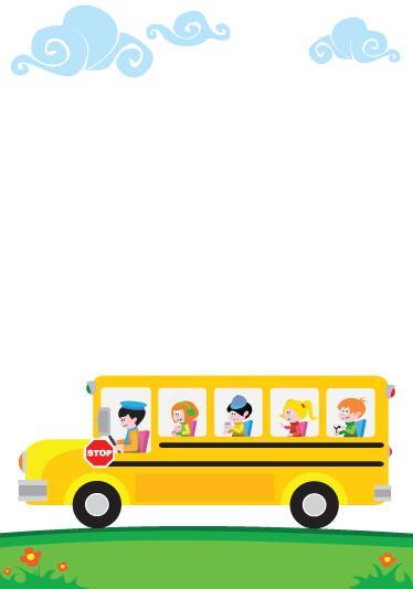 TenStickers. стикер доски школьного автобуса детей. доска - детская тематика, дизайн школьного автобуса, идеально подходит для украшения любой комнаты, также практично для рисования и написания заметок.