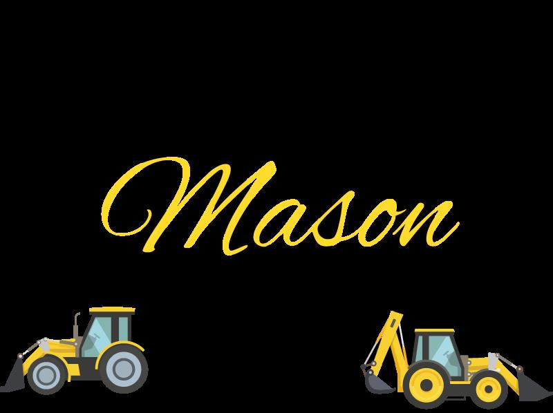 TenVinilo. Vinilo para niños tractores con inicial y nombre. Original vinilo para niños con tractores e inicial y nombre que podrás personalizar para decorar el cuarto de tu hijo ¡Compra online!