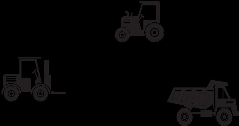 TenStickers. Sticker murale giocattolo Nome, camion e trattore. Personalizza questa adorabile decalcomania decorativa per camion giocattolo per il tuo bambino. Adatto per arredare la camera da letto e può essere applicato su qualsiasi superficie piana.