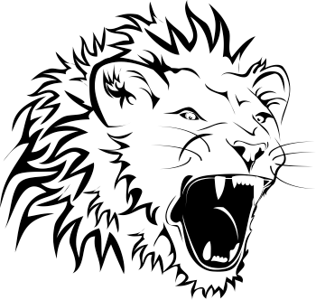 TenStickers. Roaring Lion Wall Sticker. Wall Stickers - Original illustration of a roaring lion. Ideal to bring any room alive.