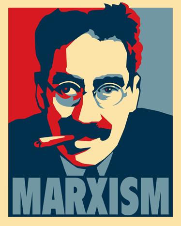 TenStickers. Muursticker poster Marx. Een muursticker met een politieke achtergrond met het hoofd van Karl Marx met een sigaar, de uitvinder van het Marxime.