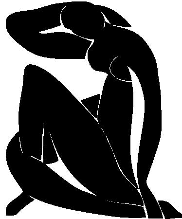 TenStickers. Adesivo murale disegno Matisse. Sticker decorativo che riproduce uno dei famosi Nudi Blu  del grande pittore francese Henri Matisse.