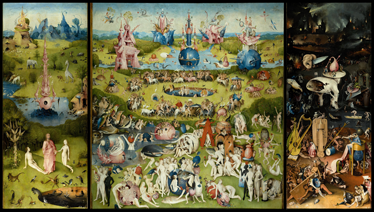 TenStickers. The Garden Of Earthly Delights Wall Sticker. A artistic wall sticker of The Garden of Earthly Delights to decorate your walls at home. The painting decal is eye-catching and can be placed anywhere in your home!