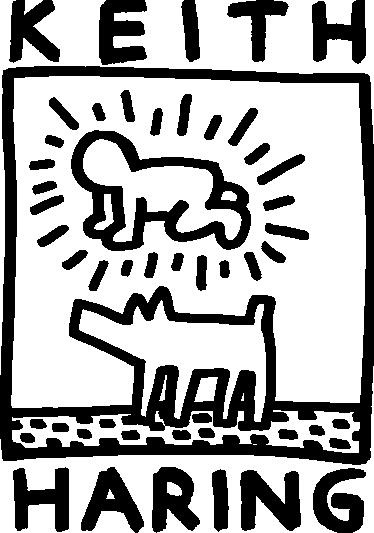 TenStickers. Sticker Keith Haring. Dessin de l'artiste pop et militant américain sur sticker pour personnaliser votre intérieur. Pour tous les fans d'art.