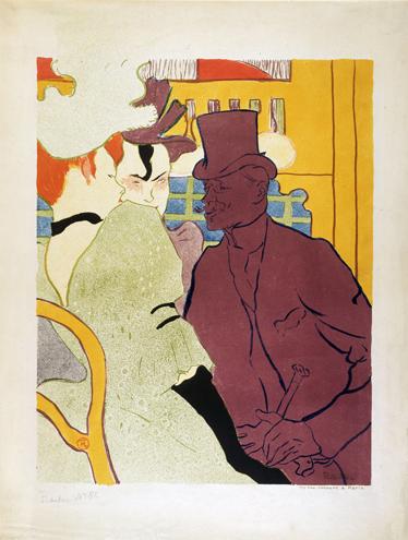 TenStickers. Sticker Moulin Rouge. Reproduction en stickers de la célèbre affiche par le peintre et lithographe français Henri De Toulouse-Lautrec.