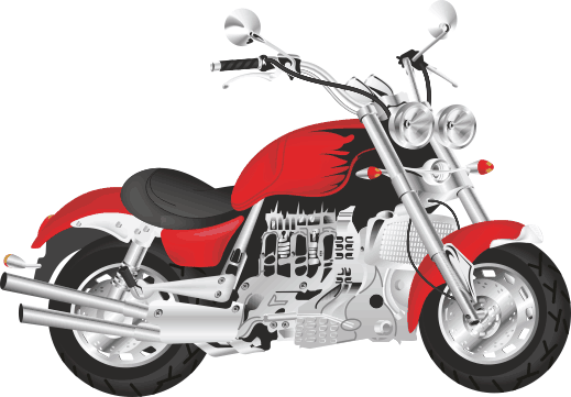 TenStickers. Red Motorbike Sticker. Decorative sticker of a stylish red motorbike. Perfect decal to decorate your room if you love motorbikes!