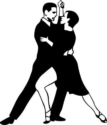 TenStickers. Couple Dancing Tango Decorative Sticker. A decorative decal of a couple dancing to the traditional music from Argentina, Tango.