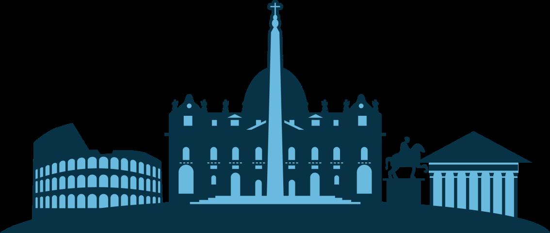 TENSTICKERS. イタリアの都市の建物都市ステッカー. イタリアの重要で象徴的な建物を表示する素敵なイタリアの街並みのスカイラインのウォールステッカー。塗布が簡単で粘着性があります。