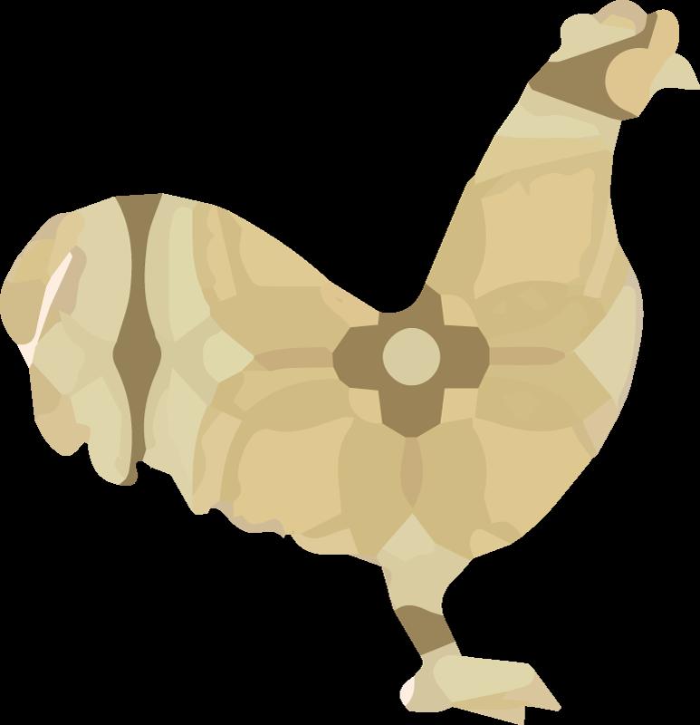 TenStickers. Autocolantes de pássaros e aves Galo floral bege. Desenho decorativo de vinil autocolante decorativo de animal de fazenda ilustrando um pássaro galo na cor bege. Adorável para decoração de sala e / ou outro espaço como cozinha.