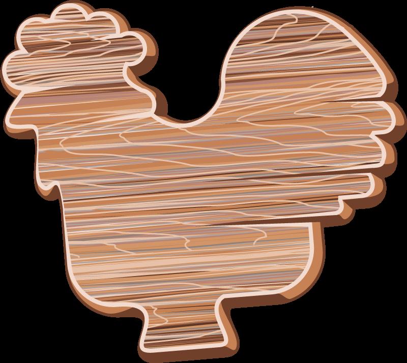 TenVinilo. Vinilo de pájaros gallo efecto madera. Este vinilo de pájaros con gallo de efecto madera será ideal para decorar tu casa de forma original ¡Descuentos disponibles!