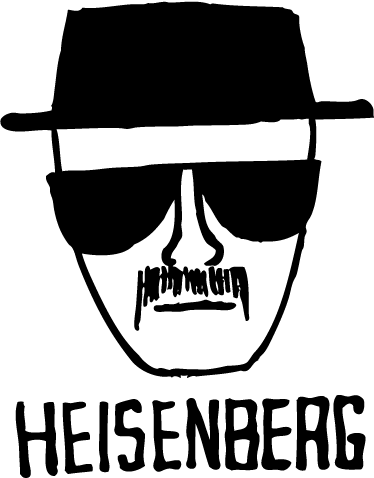 TenVinilo. Vinilo decorativo dibujo Heisenberg. Dibujo adhesivo del protagonista de la exitosa serie americana Breaking Bad.