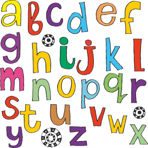 TenStickers. Kids Stickers Alphabet Sticker. Wall sticker art perfect for learning the 26 letters of the alphabet, suitable for any space and surface.