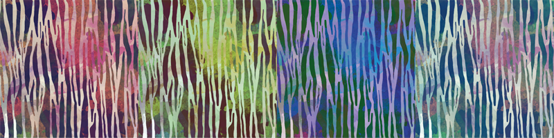 TenVinilo. Cenefa decorativa textura cebra abstracta. Cenefa adhesiva de pared con textura de cebra abstracta para decoración de habitaciones, baños, cocinas y salas de estar. Es original y duradero